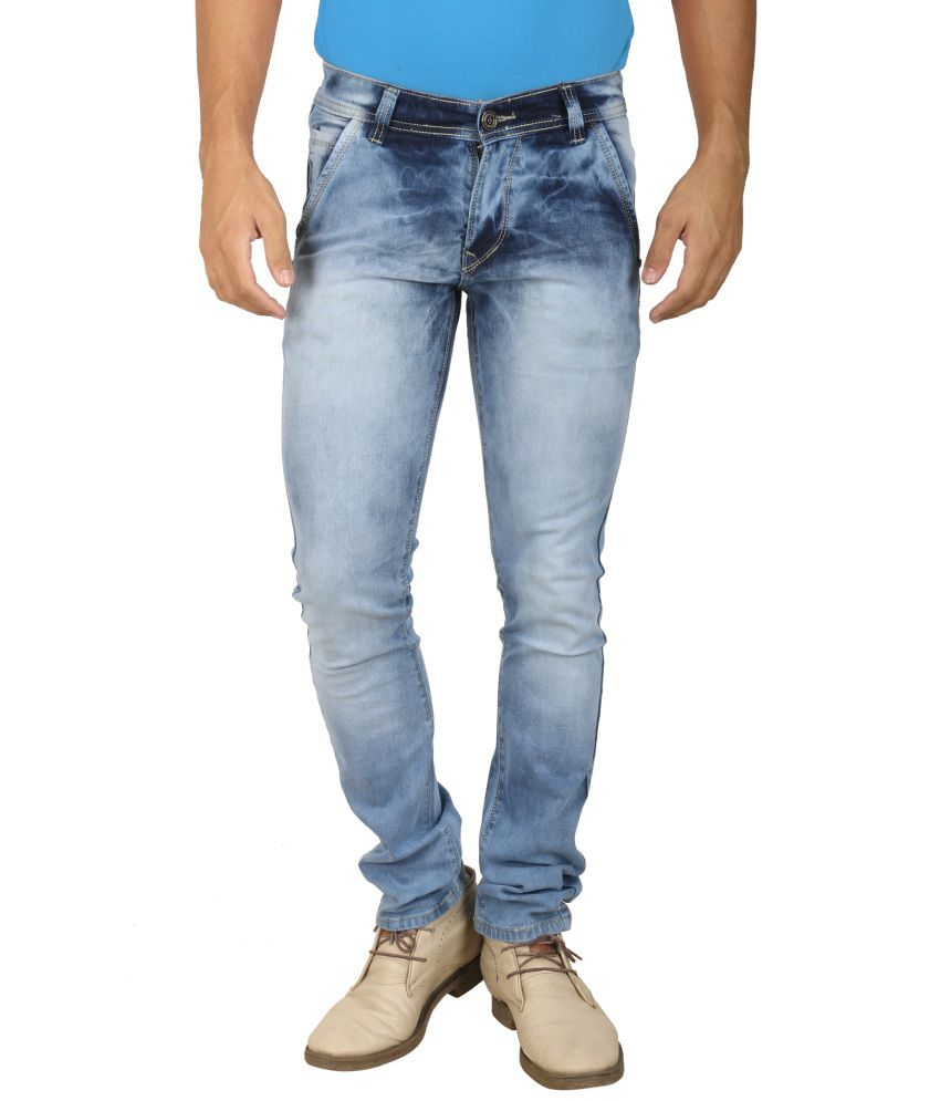 Moshico Blue Slim Fit Jeans