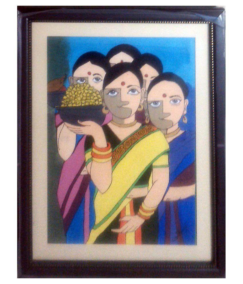 Nazarethlion 3 Women Acrylic Canvas Painting