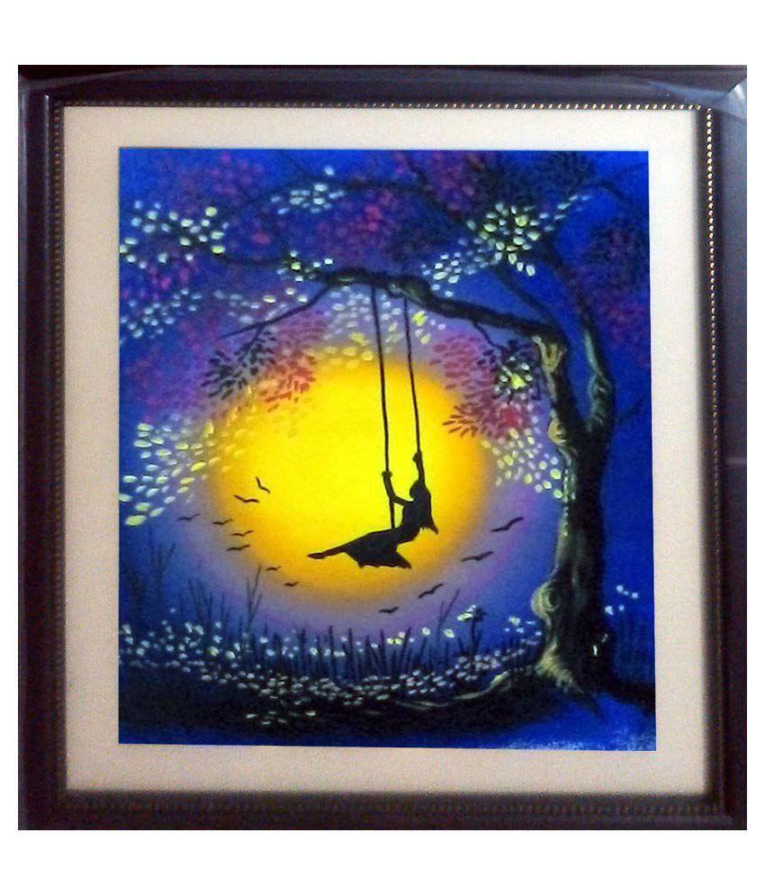 Nazarethlion Blue Tree Acrylic Canvas Painting