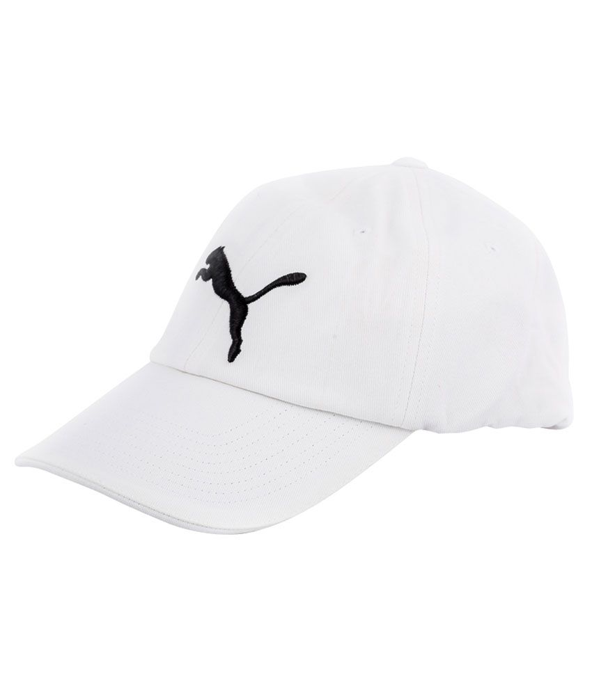 R S Industries White Cotton Cap Pack Of 3