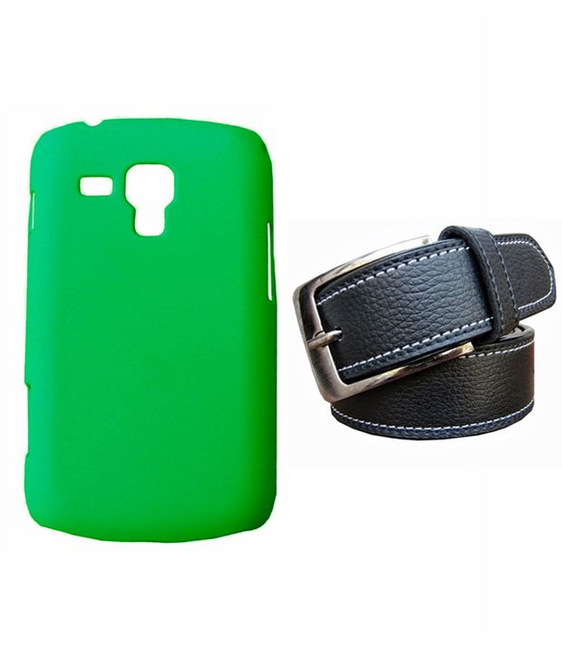 Winsome Deal Black Belt with Back Cover Case for Samsung Galaxy S Duos 7562