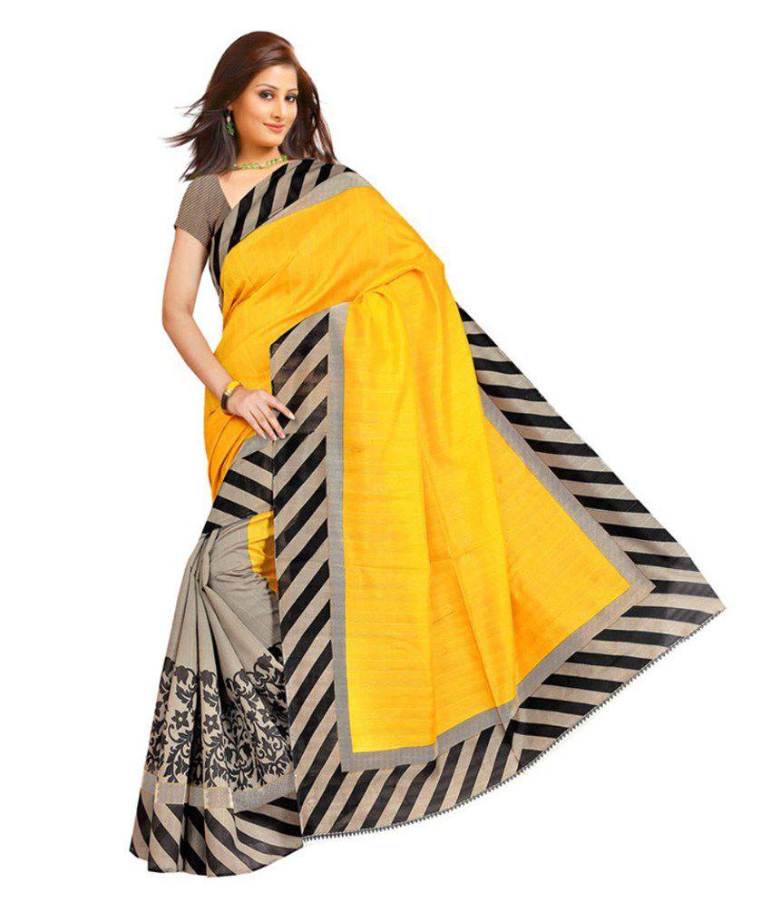 myfab multicoloured bhagalpuri silk saree buy myfab multicoloured bhagalpuri silk saree online. Black Bedroom Furniture Sets. Home Design Ideas