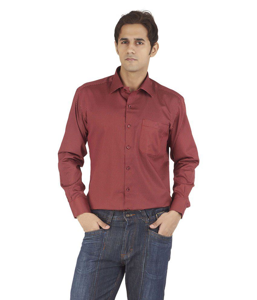 faa575e6e22 Silkina Red Formal Shirt - Buy Silkina Red Formal Shirt Online at Best  Prices in India on Snapdeal