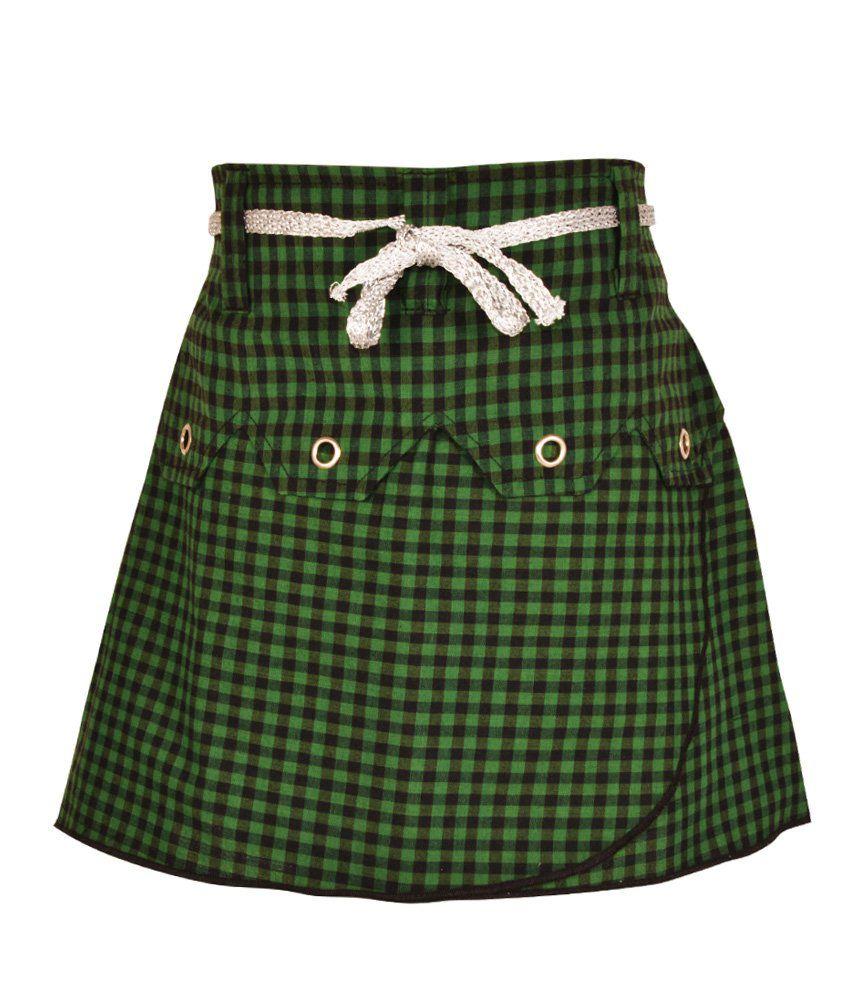 Gkidz Green Cotton Skirt