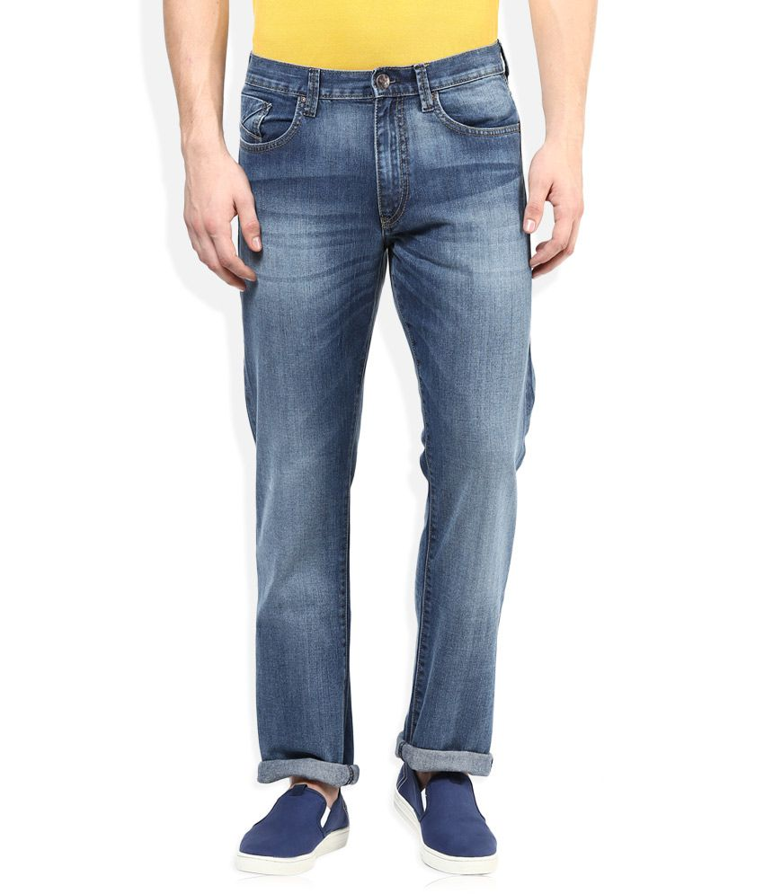Lee Blue Light Wash Regular Fit Jeans
