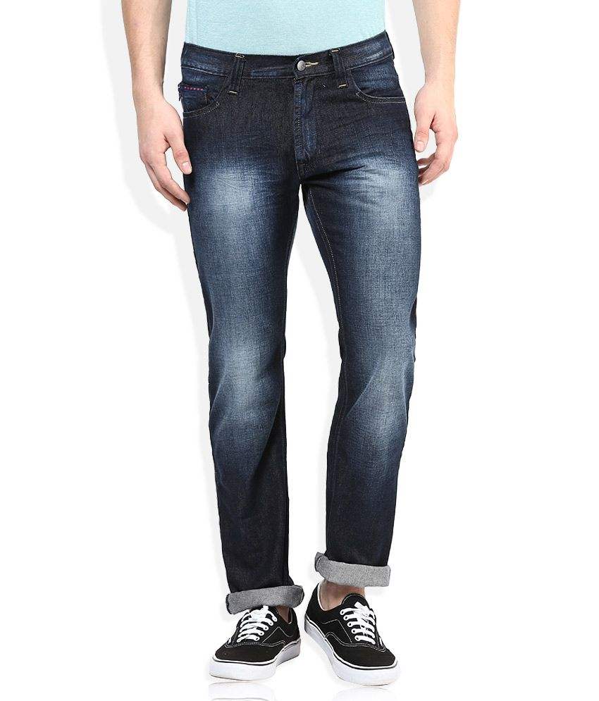 Lee Navy Stone Wash Regular Fit Jeans