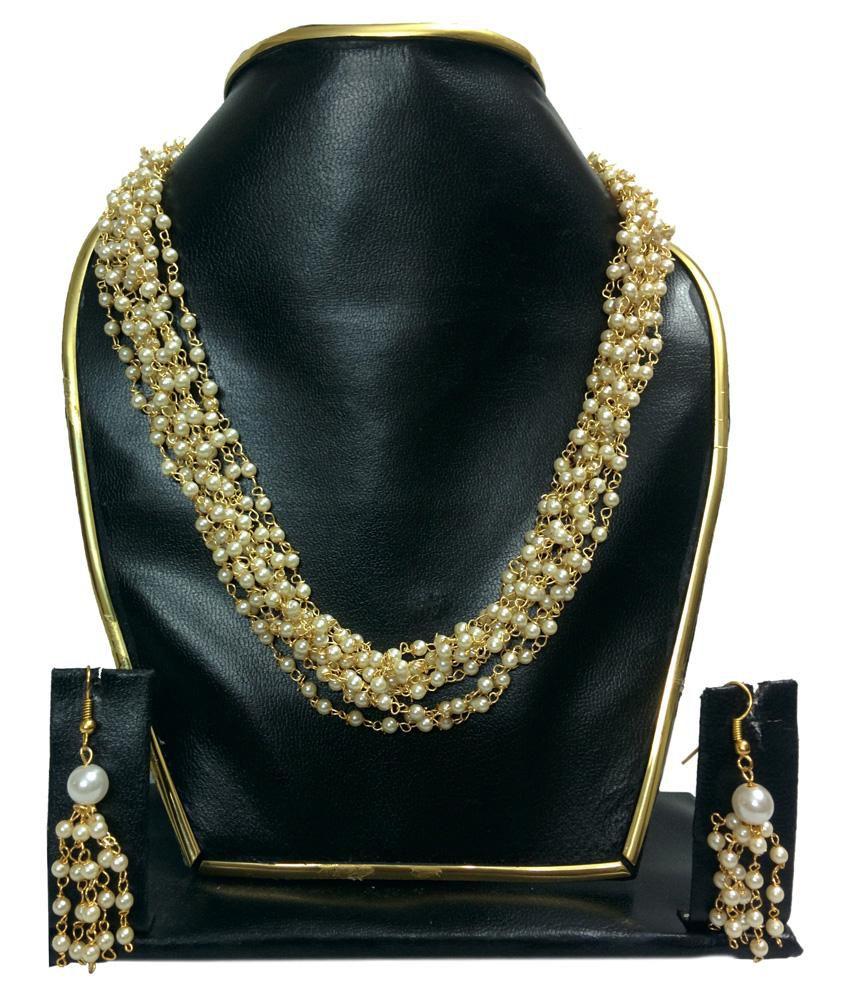 Buy Kundan Choker Necklace Priya Nacc10438c: Shree Priya Gold Plated Crystal Designer Necklace Set
