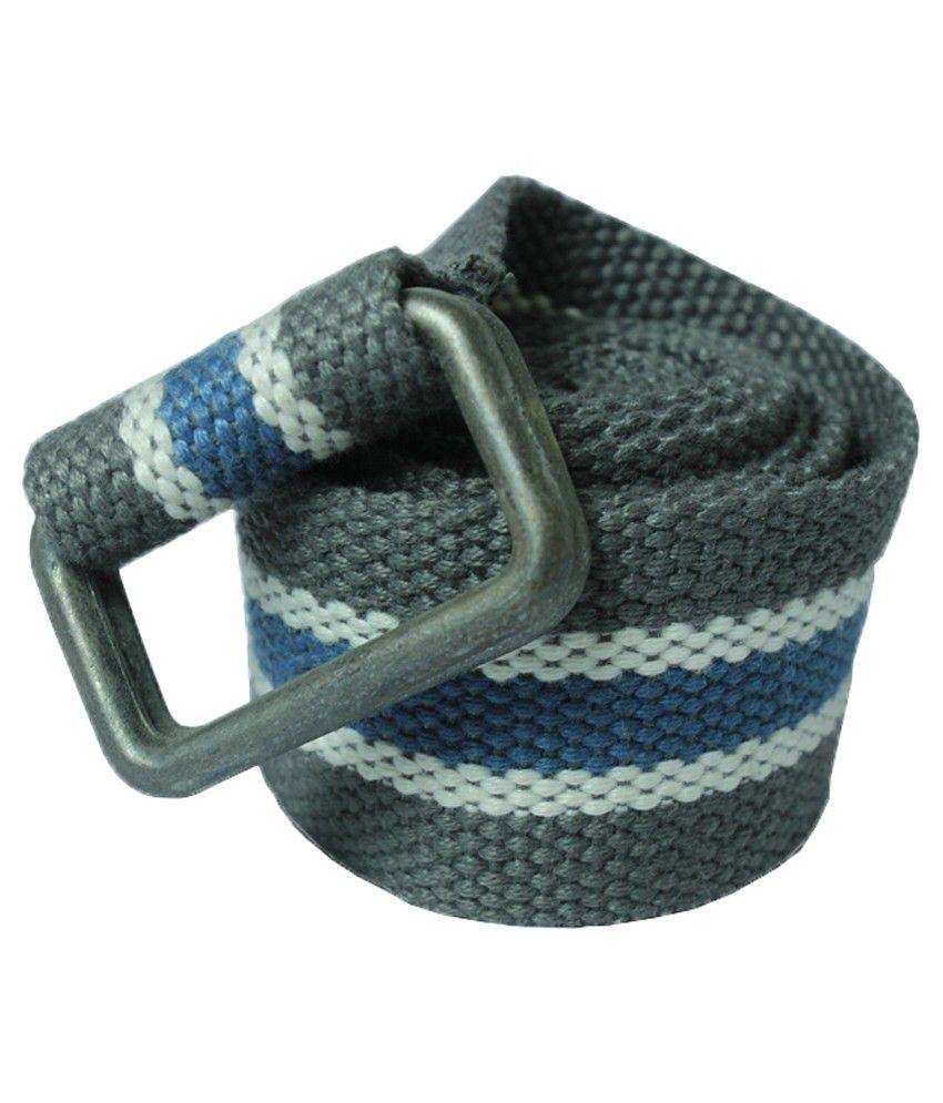 Trendz Clothing Gray Canvas Belt for Men