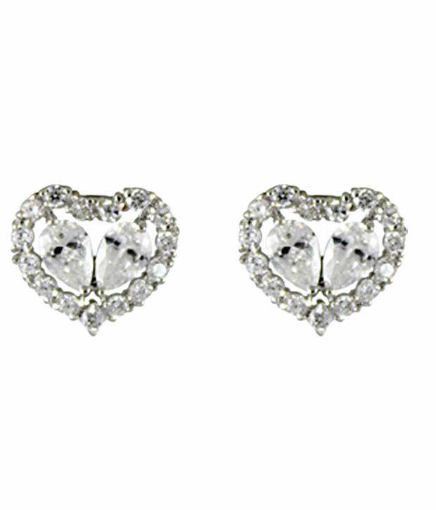 Catchme Silver Alloy Stud Earrings