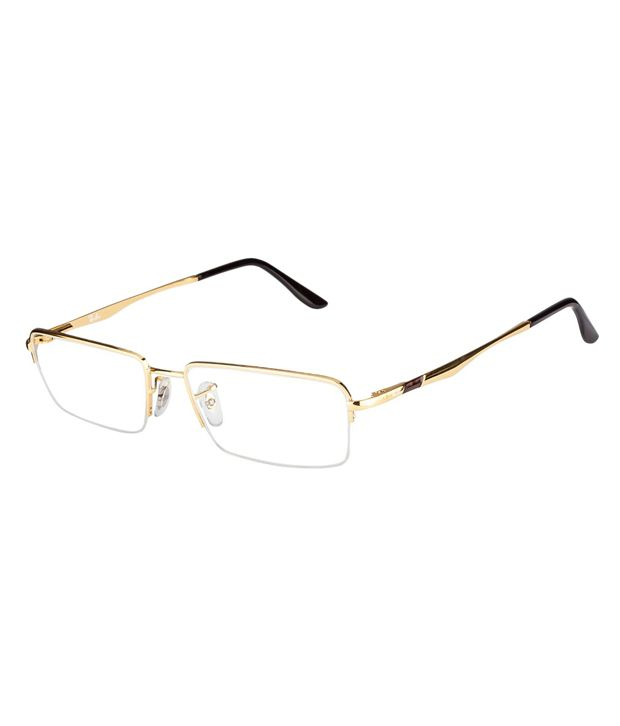 Ray-Ban Golden Frame Half Rim Eyeglasses - Buy Ray-Ban Golden Frame ...