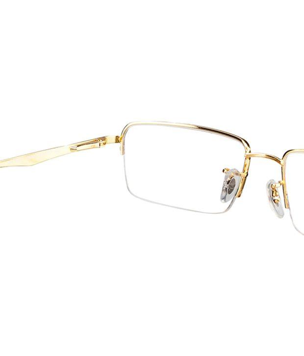 ray ban half frame eyeglasses  Ray-Ban Golden Frame Half Rim Eyeglasses - Buy Ray-Ban Golden ...