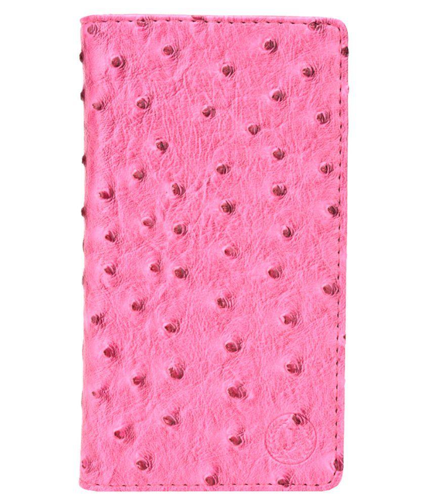 Jo Jo Flip Cover For Huawei Y635 - Pink