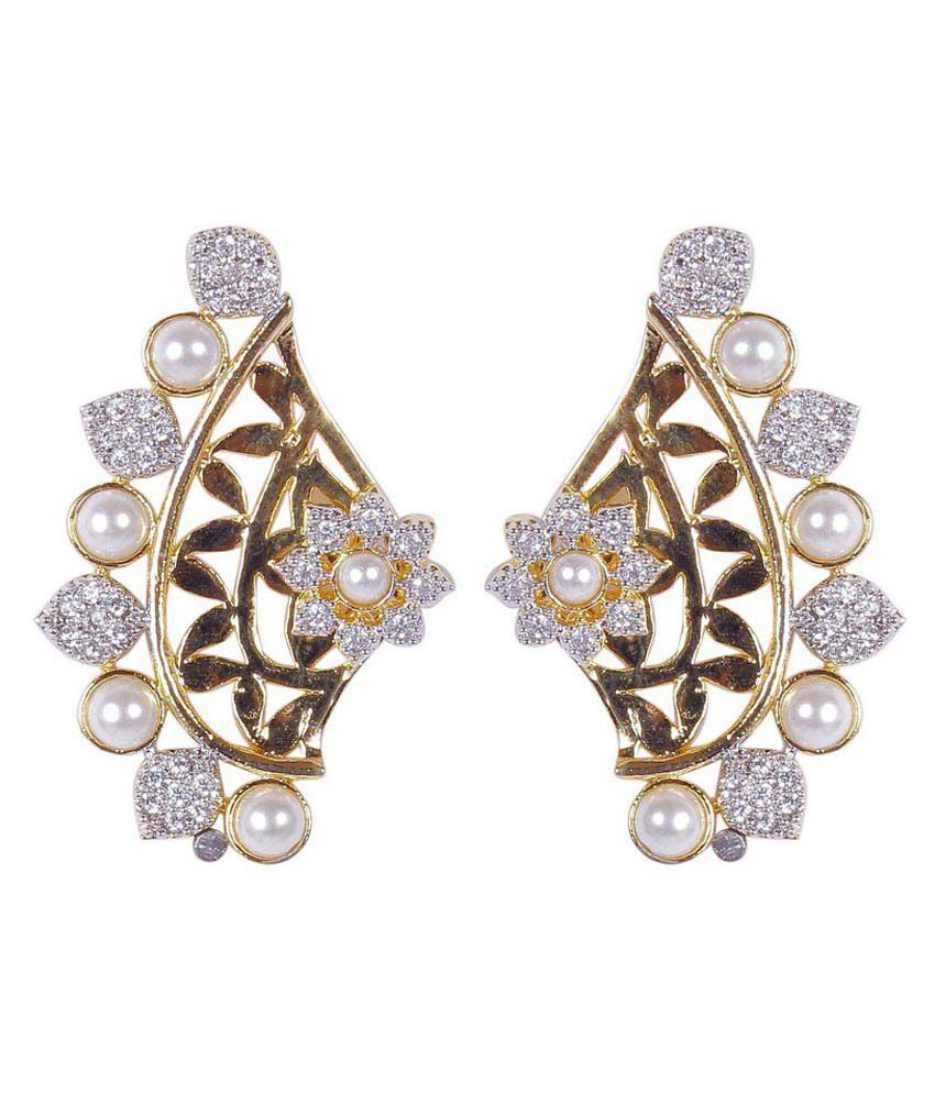 how much are earrings much more beautiful flower design cz pearl fashion 2258