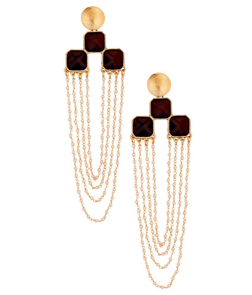 Thejewelbox Black Pearl Hanging Earrings