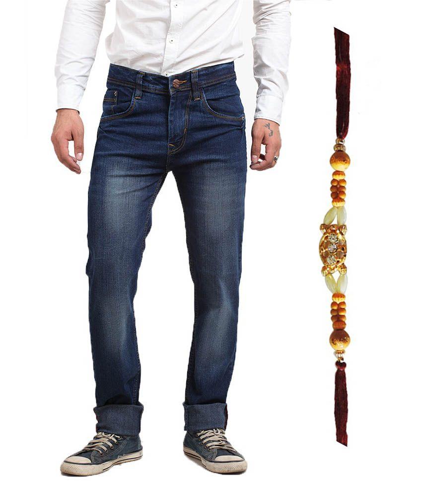 X-cross Blue Cotton Blend Jeans