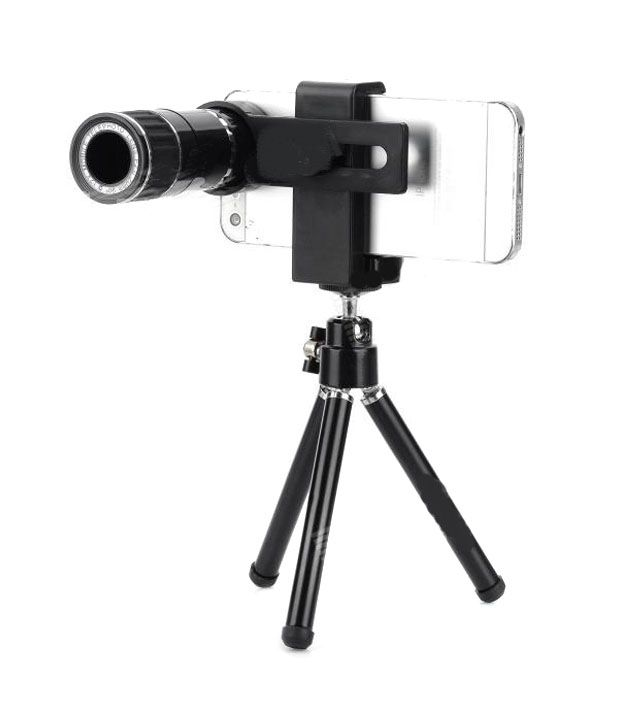 iCam Rk-04 12X Zoom Telescope Camera Lens With Extendable Tripod For Apple iPhone 5/5S And 4/4S