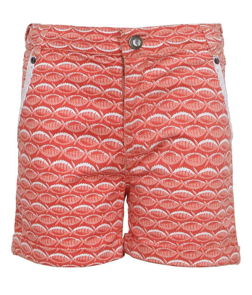 Bells & Whistles Orange Solid Shorts