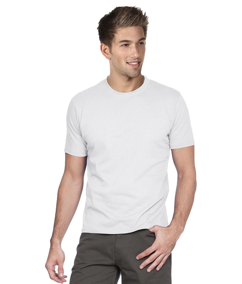 Pockets White Cotton Blend T -shirt - Pack Of 4