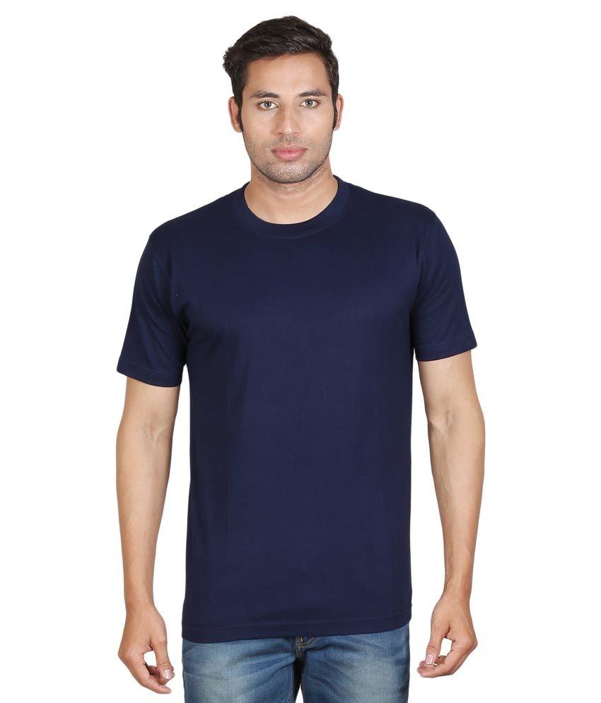 Winfield Navy Cotton Round Neck T-Shirt