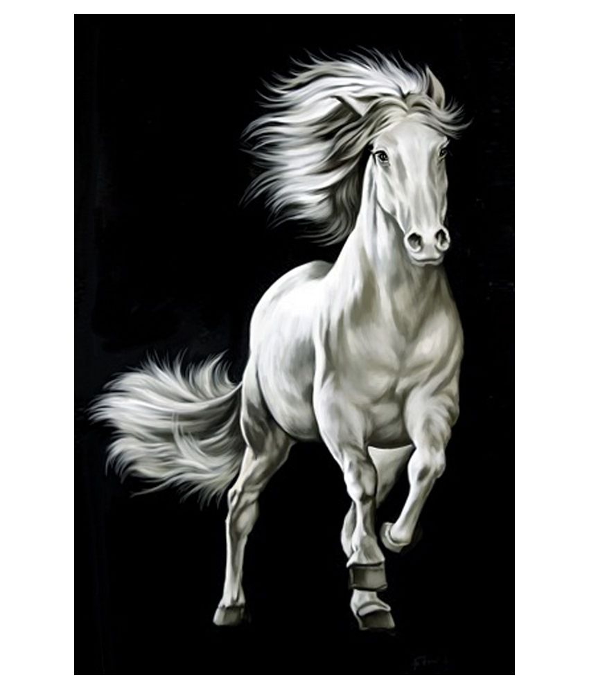 Art factory black white horse painting buy art factory black white horse painting at best price in india on snapdeal