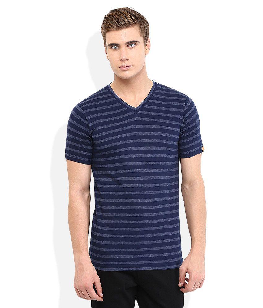 Chromozome Navy Regular Fit T-Shirt