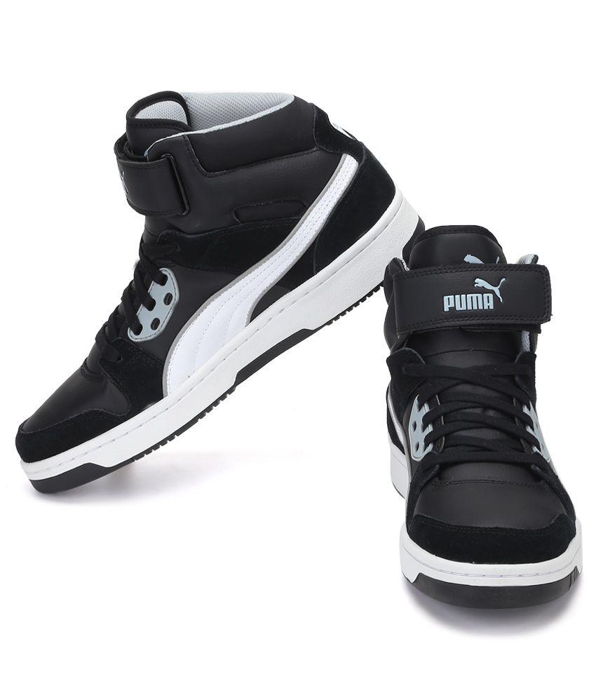 641c35ed6ff5 Puma Rebound Street Black Casual Shoes Puma Rebound Street Black Casual  Shoes ...