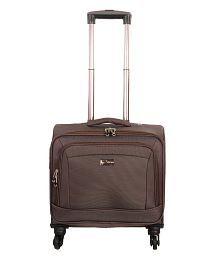 Sprint Nylon Overnighter Trolley Bag-Brown
