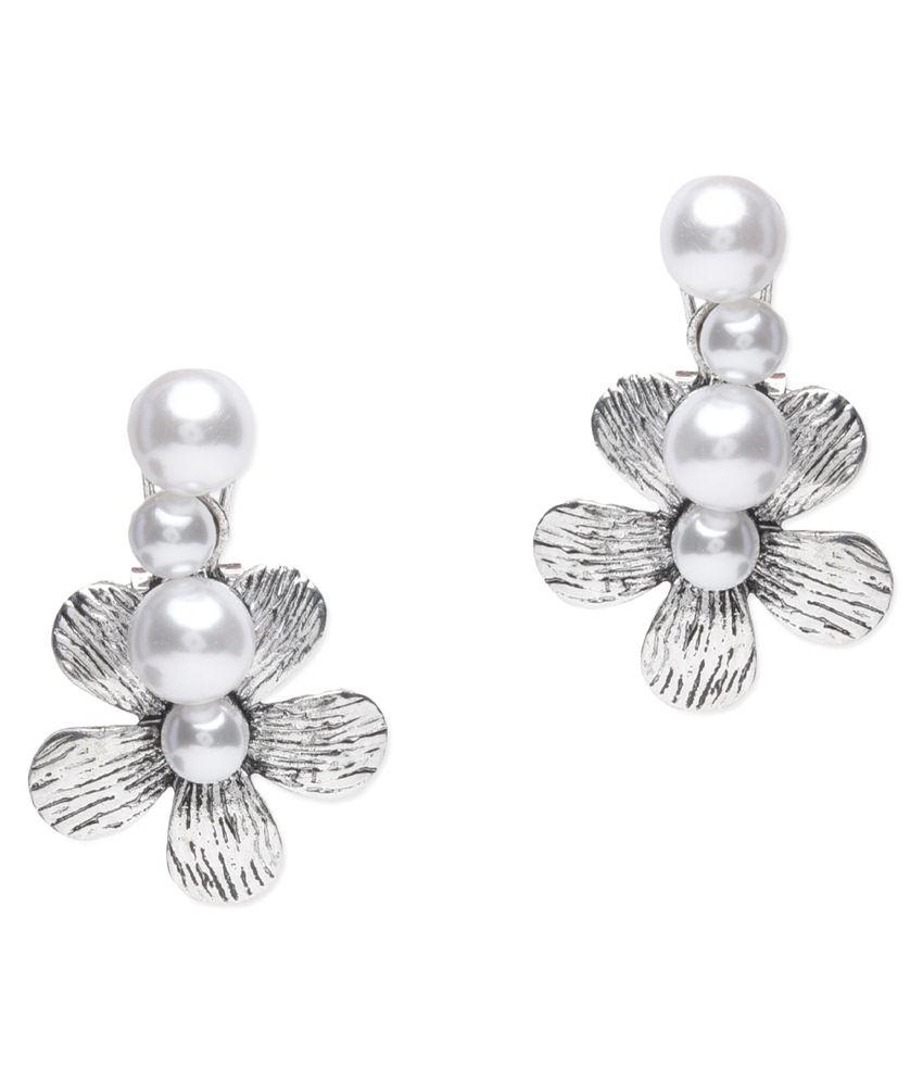 BGS Silver Alloy Drop Earrings
