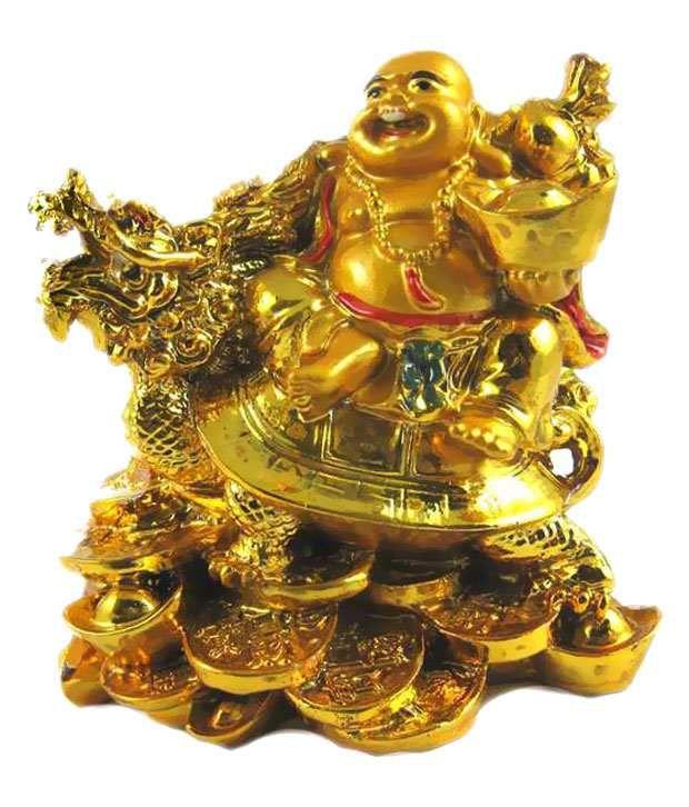 China Bazaar Laughing Buddha Sitting On Dragon