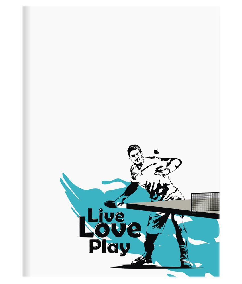 Chipka ke bol table tennis design plain notebook buy for Table ke design