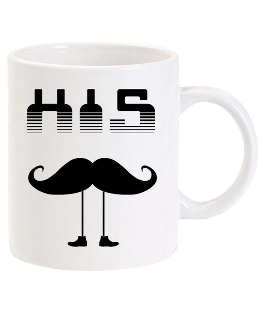 deco pride india his moustache coffee mug buy online at best price in india snapdeal. Black Bedroom Furniture Sets. Home Design Ideas