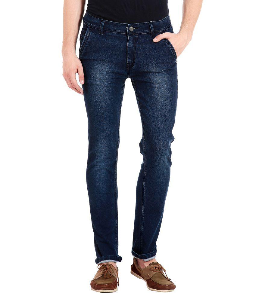 4d45962874d Flyjohn Blue Slim Fit Jeans - Set of 2 - Buy Flyjohn Blue Slim Fit ...