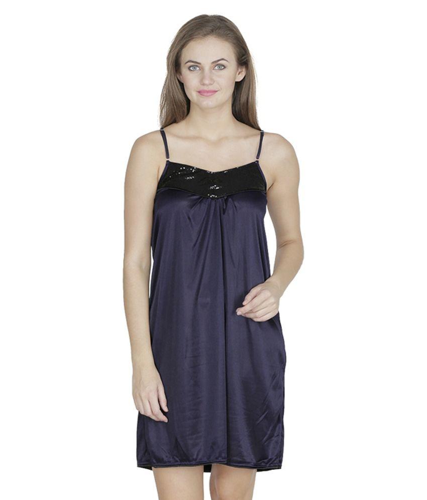 buy klamotten blue satin baby doll dresses online at best prices in india snapdeal. Black Bedroom Furniture Sets. Home Design Ideas