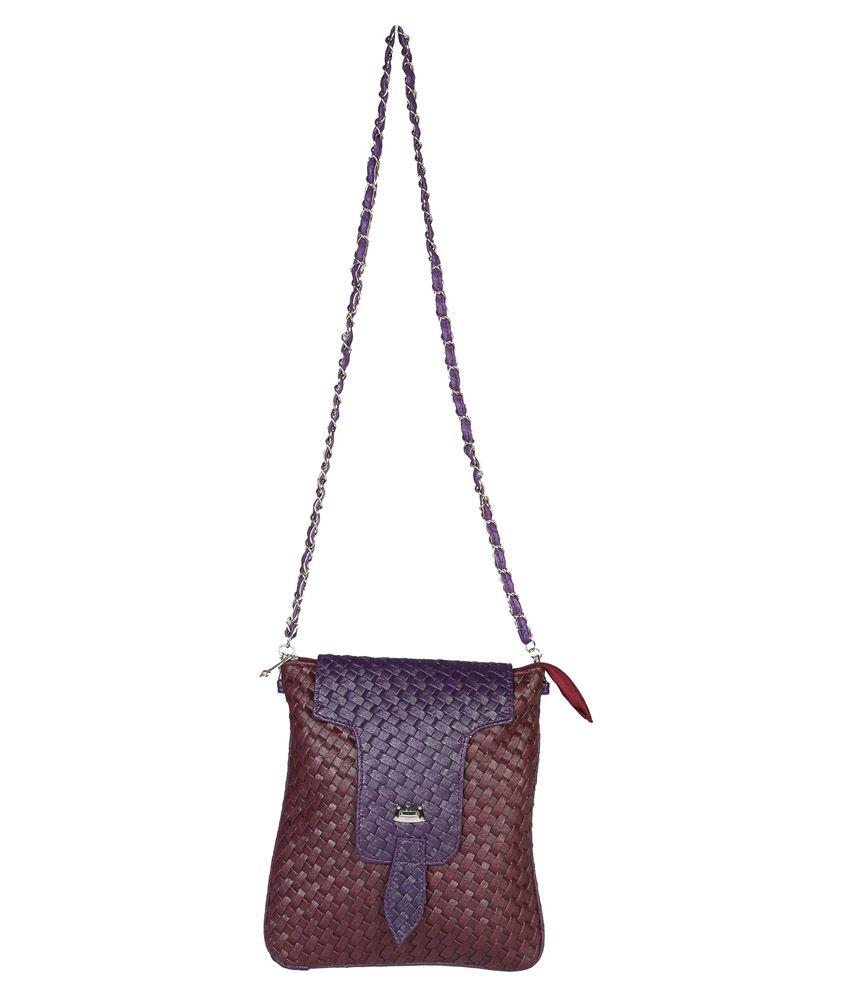 Purpleyou Brown Sling Bag
