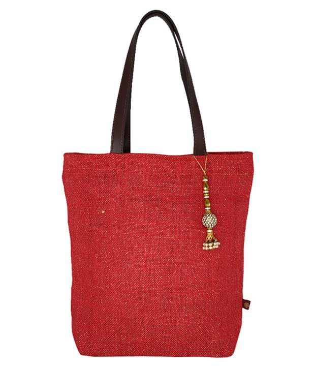RishteyBags Red Jute Shoulder Bag
