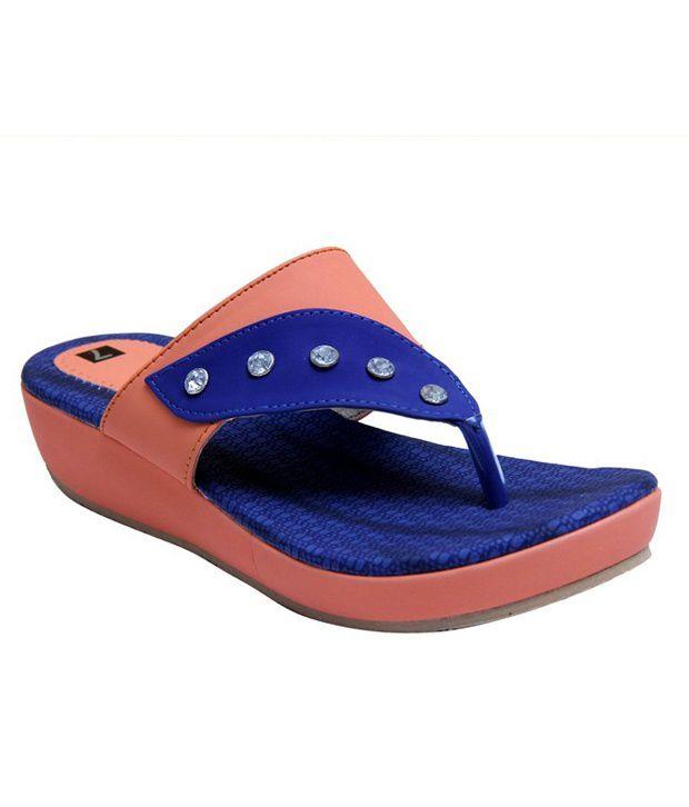 Stefino Orange Flip Flops