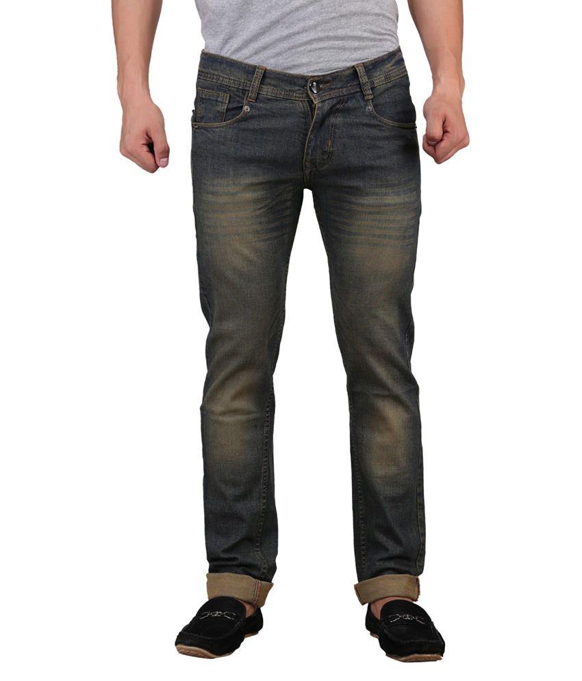 X-CROSS Green Regular Fit Jeans