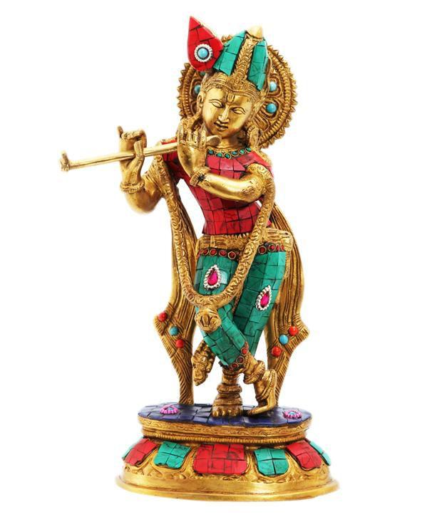 Ark Creation Hindu God Krishna Standing With Flute