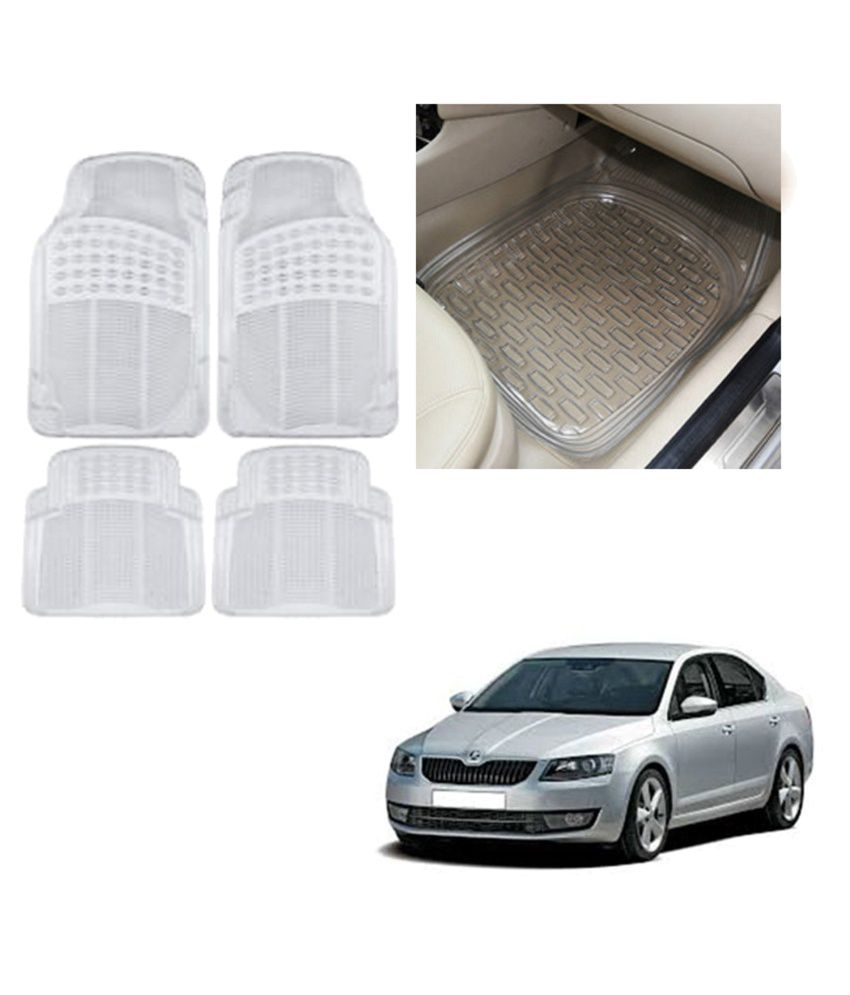 Allure Auto Transparent Rubber Car Mats For Skoda Octavia Set Of 4