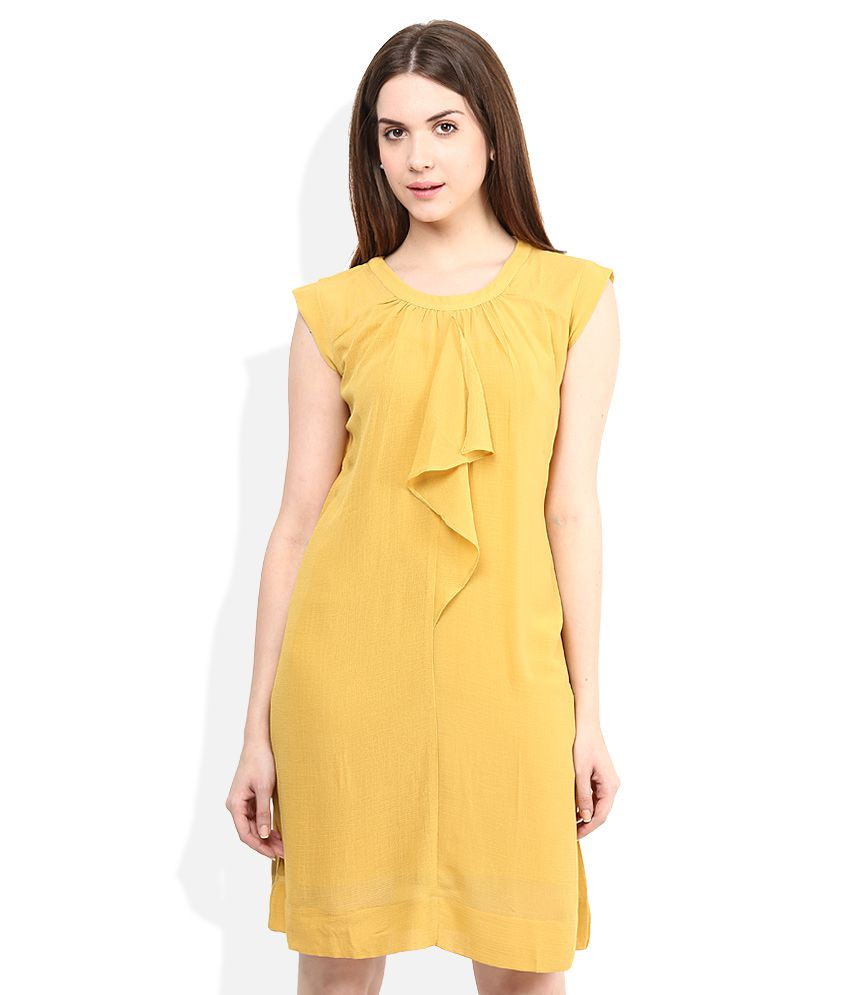 c0cf7980f7d AND Yellow Ruffle Dress - Buy AND Yellow Ruffle Dress Online at Best Prices  in India on Snapdeal