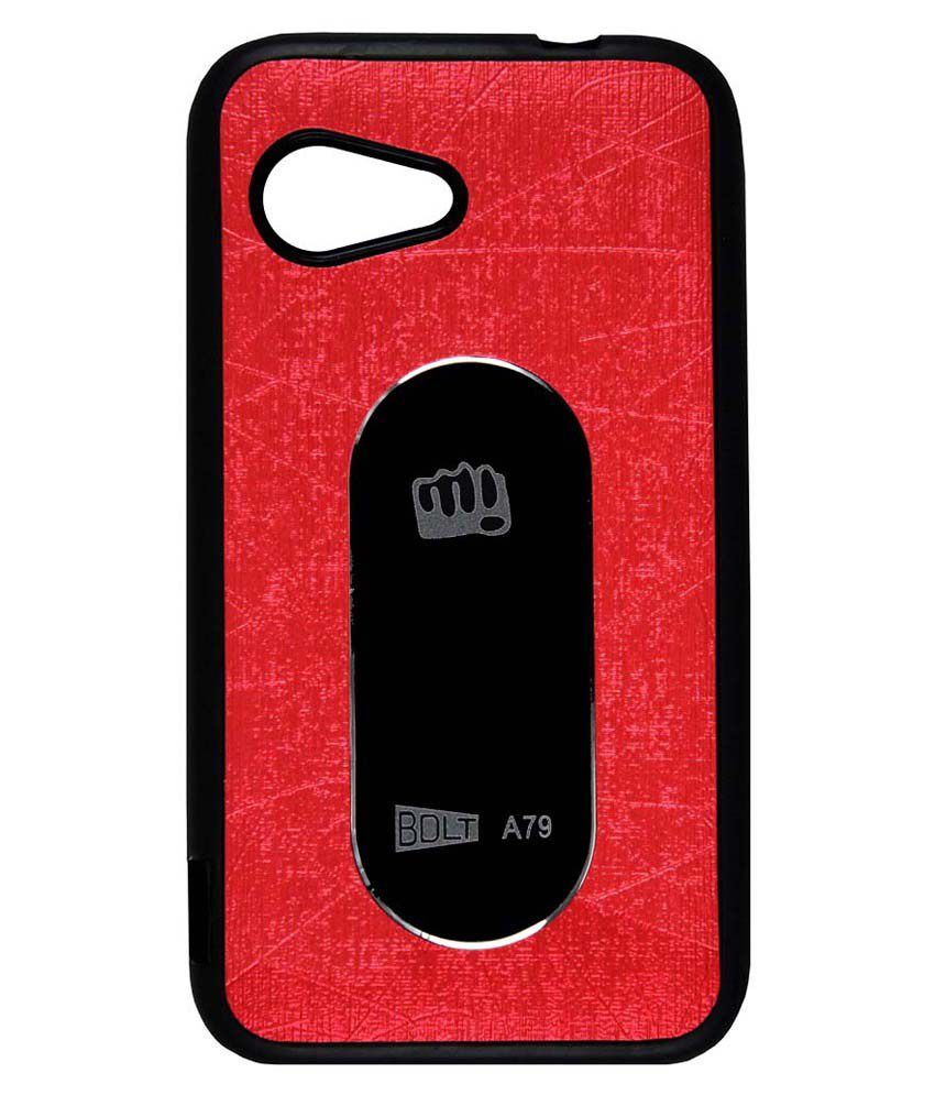factory authentic 2a8c9 b19c8 Casotec Back Cover For Micromax Bolt A79-Red
