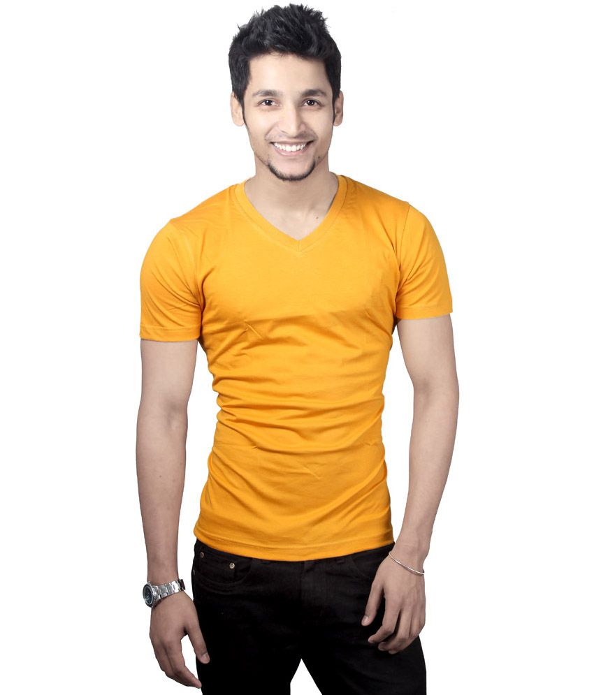 Purple Square Orange Cotton T-Shirt