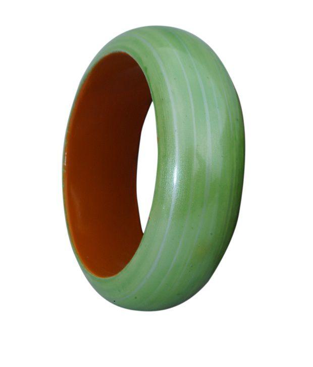 Supriya Green Wooden Kada