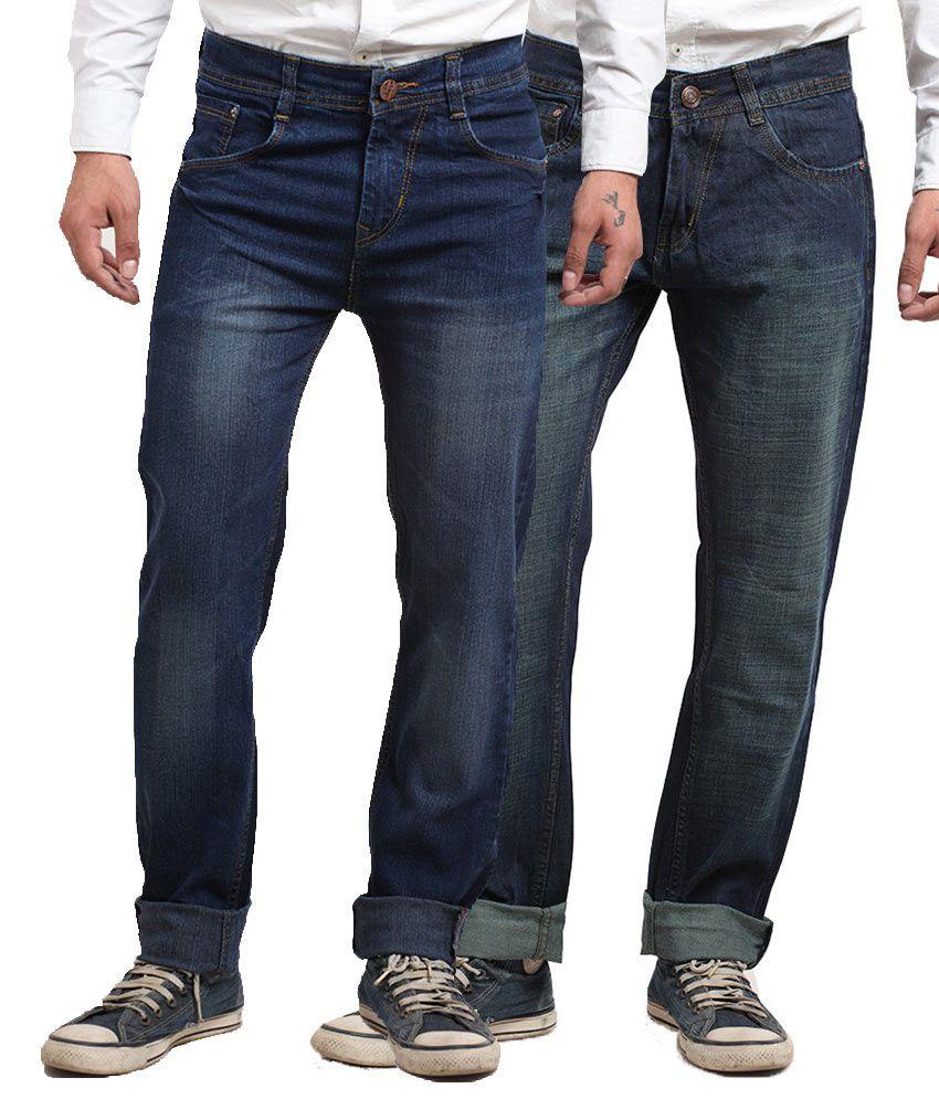 X-CROSS Blue Regular Fit Jeans Pack Of 2