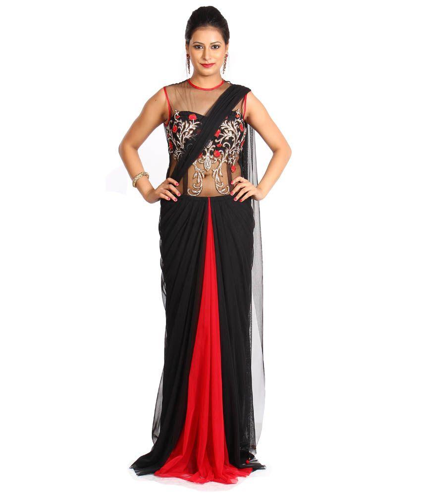 Aasma Design Blue Net Gowns