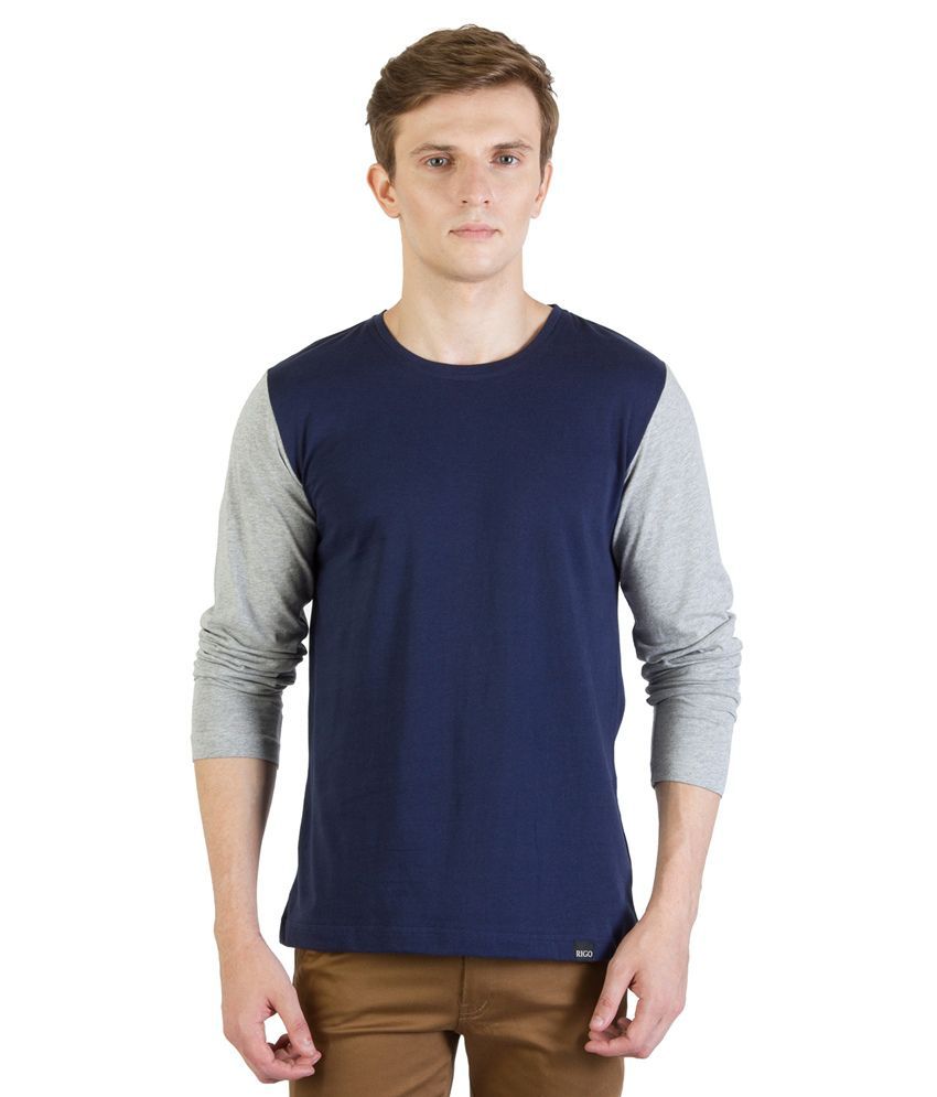 Rigo Navy Cotton T - Shirt