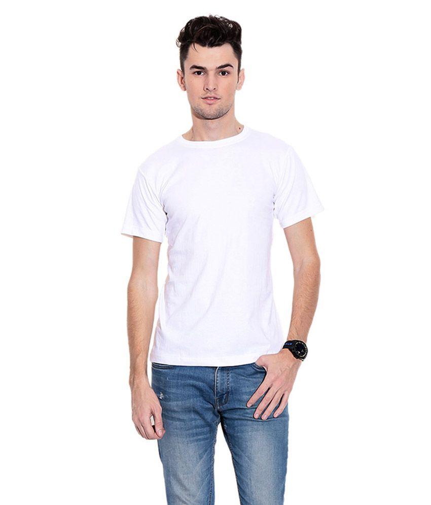 Arihant Fashions White Cotton T-Shirt