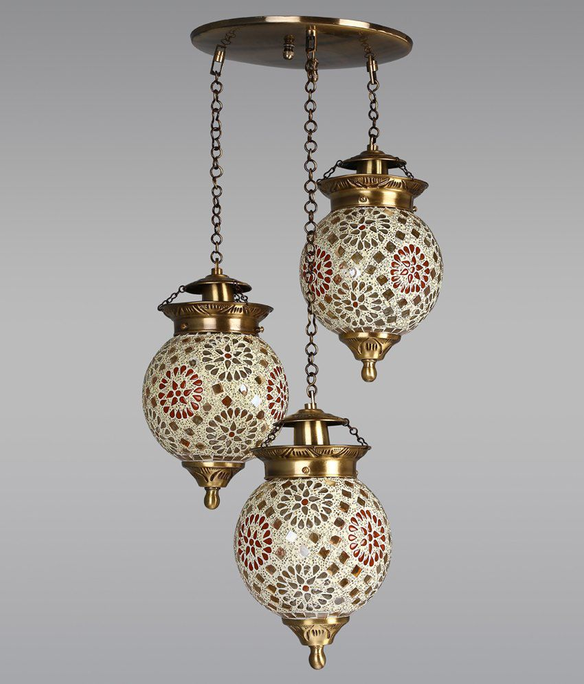 fos lighting chandni tilak set of 3 hanging lights