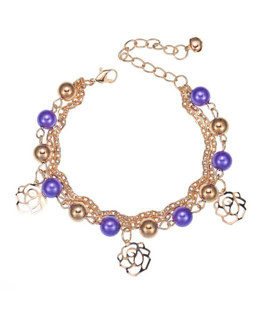 jewel touch purple designer charm bracelet buy jewel