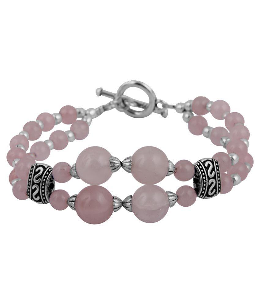 Pearlz Ocean Pink Designer Adjustable Bracelet